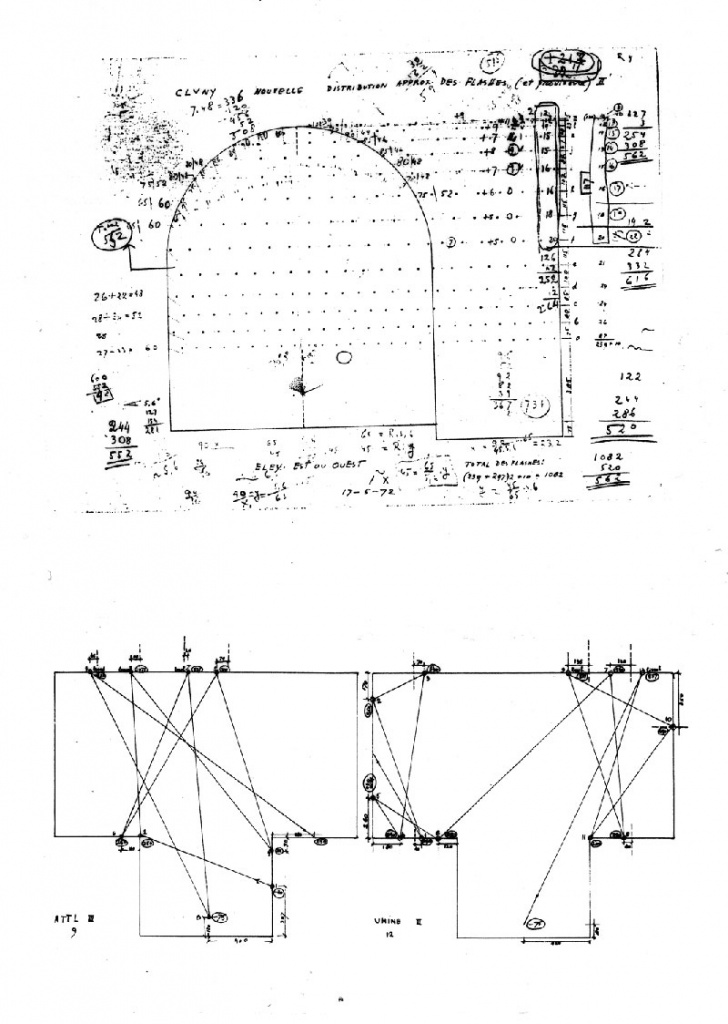 xenakis-polytopes-cluny-04-Composers-diagrams-showing-distribution-of-flashbulbs-and-laser-trajectories